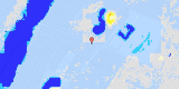 Ekstrem regn på Gothersgade 133, 1.