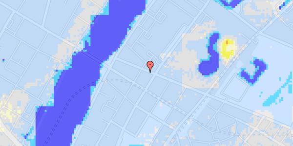 Ekstrem regn på Gothersgade 157, 2. tv