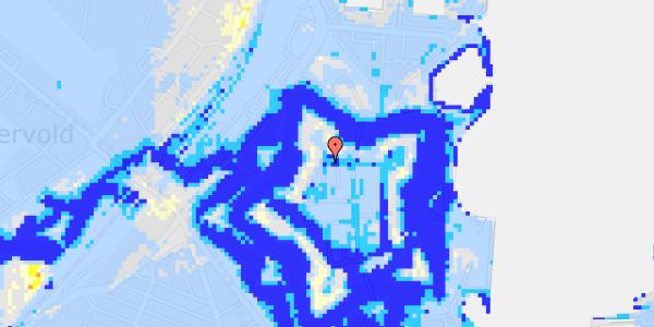 Ekstrem regn på Kastellet 78