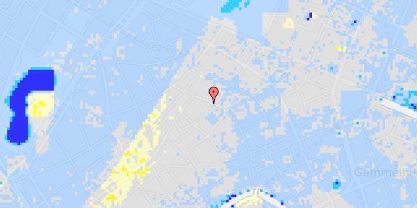 Ekstrem regn på Købmagergade 39, kl.