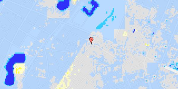 Ekstrem regn på Landemærket 29, kl.