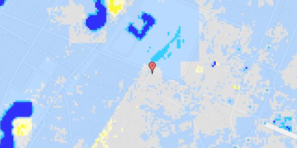 Ekstrem regn på Landemærket 57, st.