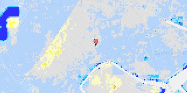Ekstrem regn på Niels Hemmingsens Gade 1, 2. og