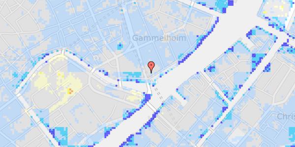 Ekstrem regn på Niels Juels Gade 15, 2. th
