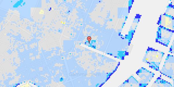 Ekstrem regn på Nyhavn 13, st.