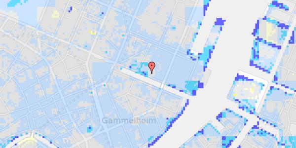 Ekstrem regn på Nyhavn 31A, st.