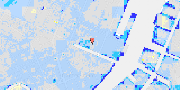 Ekstrem regn på Nyhavn 31B, 4. th