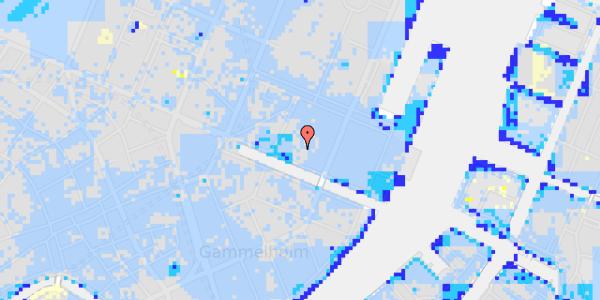 Ekstrem regn på Nyhavn 31J, kl.