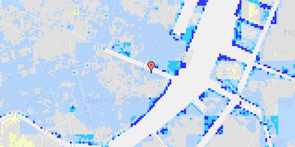 Ekstrem regn på Nyhavn 38, st. 1