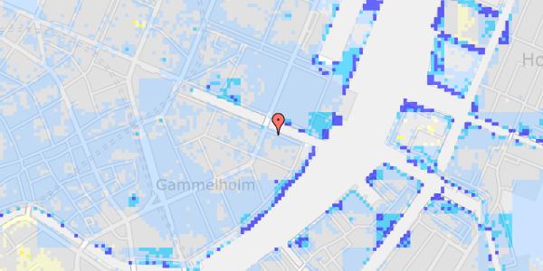 Ekstrem regn på Nyhavn 38, 3. th