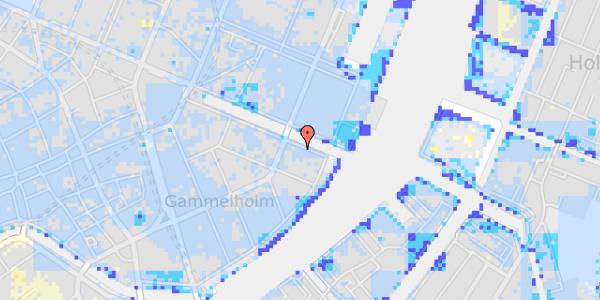 Ekstrem regn på Nyhavn 40, 1. th