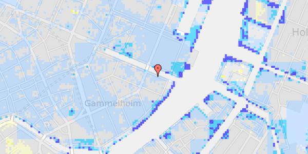 Ekstrem regn på Nyhavn 40, 2. tv