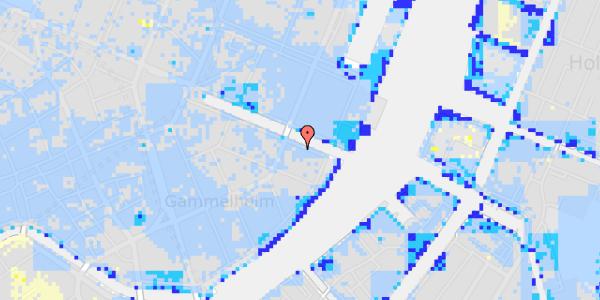 Ekstrem regn på Nyhavn 40, 3. th