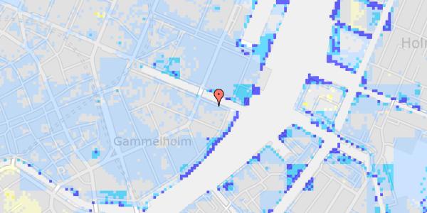 Ekstrem regn på Nyhavn 42A, 2. th