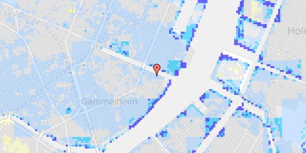 Ekstrem regn på Nyhavn 42A, 5. th