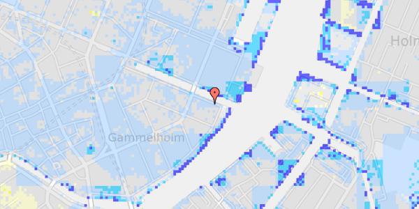 Ekstrem regn på Nyhavn 42B, kl.