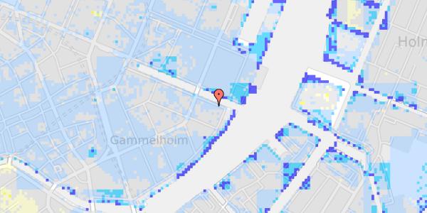 Ekstrem regn på Nyhavn 42B, 4. th