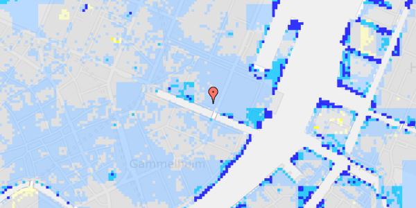 Ekstrem regn på Nyhavn 43, st.