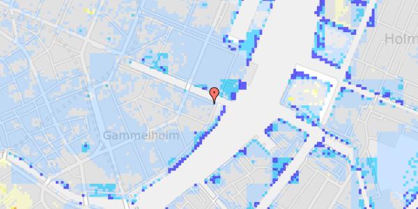 Ekstrem regn på Nyhavn 44, st.