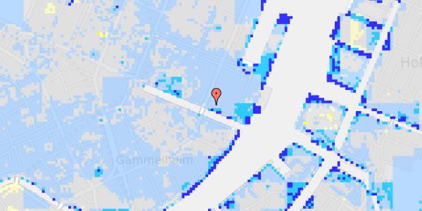 Ekstrem regn på Nyhavn 51, st.