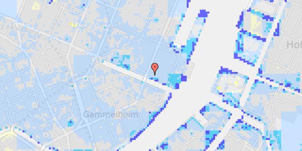 Ekstrem regn på Nyhavn 51, 1.