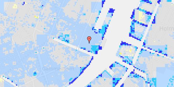 Ekstrem regn på Nyhavn 63C, st.