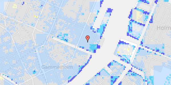Ekstrem regn på Nyhavn 63C, 2. 12