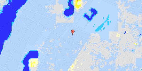 Ekstrem regn på Rosenborggade 7, kl.