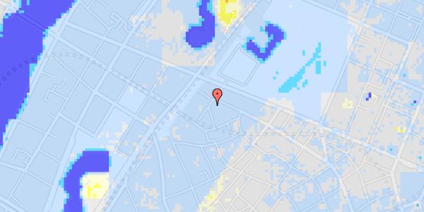 Ekstrem regn på Rosenborggade 10, kl. tv