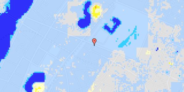 Ekstrem regn på Rosenborggade 19, kl.
