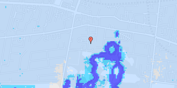 Ekstrem regn på Porcelænshaven 5E, 4. tv