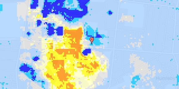 Ekstrem regn på Roskildevej 26B, st.