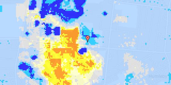 Ekstrem regn på Roskildevej 26C, 1. tv