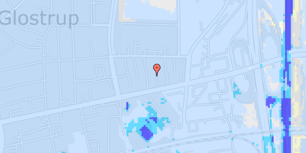 Ekstrem regn på Dalvangsvej 21, st. tv