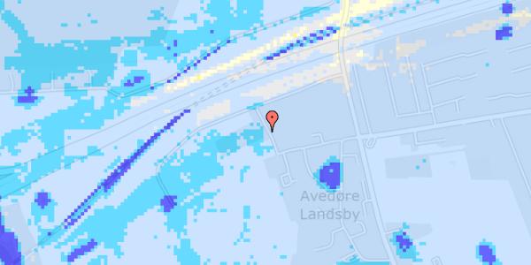 Ekstrem regn på Avedøre Slettevej 7A