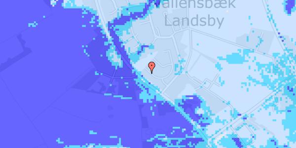 Ekstrem regn på Møllestensvej 9