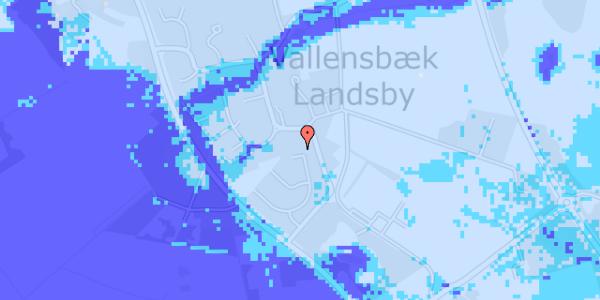 Ekstrem regn på Møllestensvej 18