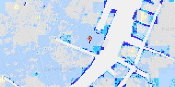 Ekstrem regn på Nyhavn 57C