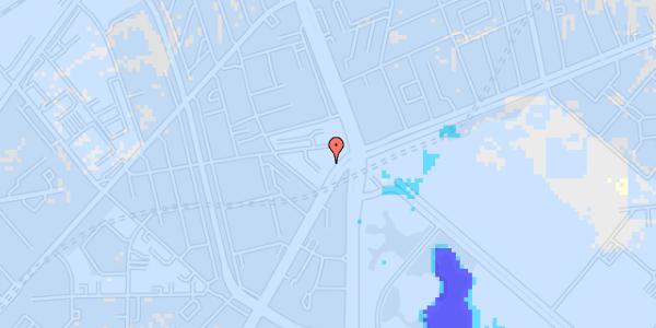 Ekstrem regn på Jagtvej 171A, st. tv