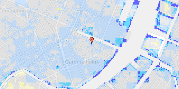 Ekstrem regn på Nyhavn 12B, st.