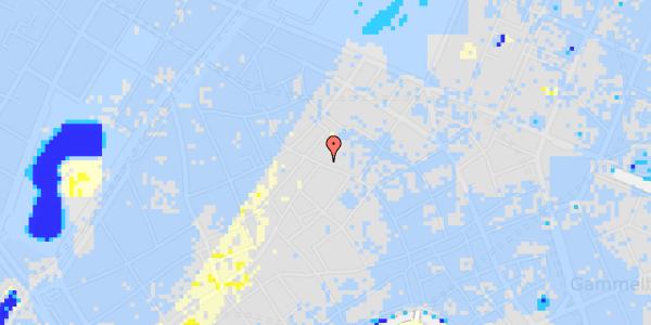 Ekstrem regn på Købmagergade 50, 1.
