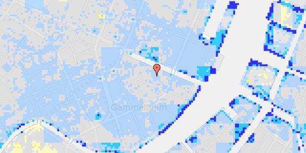 Ekstrem regn på Nyhavn 12A, st.