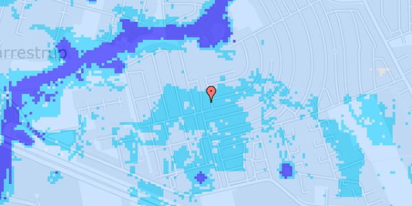 Ekstrem regn på Dührings Plads 2A