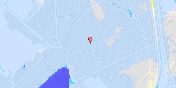 Ekstrem regn på Rosenvængets Allé 20A, 2. mf