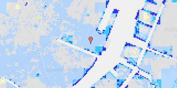 Ekstrem regn på Nyhavn 53C, 1.