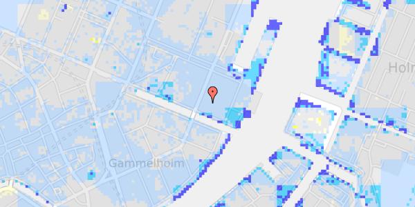 Ekstrem regn på Nyhavn 53D, st. th