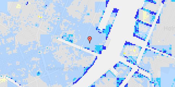 Ekstrem regn på Nyhavn 53D, st. tv
