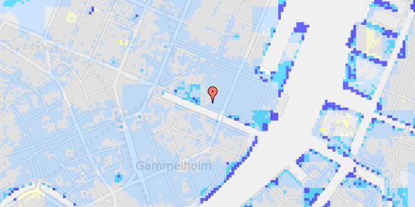 Ekstrem regn på Nyhavn 37, kl. 1