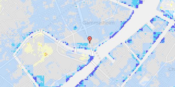 Ekstrem regn på Niels Juels Gade 14