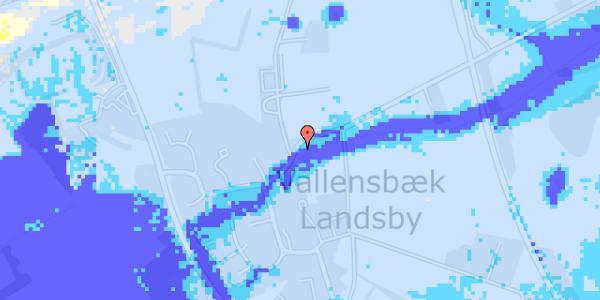 Ekstrem regn på Brøndbyvej 199